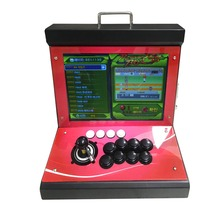 15 inch Display Fighting Arcade video Game console Table Top metal Cabinet 1388 in 1 Box 6s Mini machine
