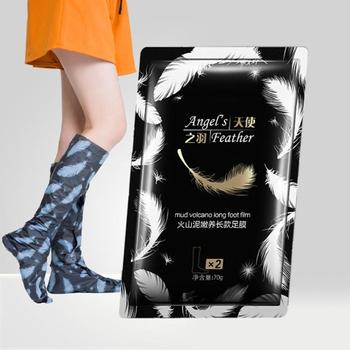 1pair Volcanic Mud Remove Exfoliating Peeling Moisturizing Exfoliating Skin Foot Masks for Legs Long Cover Foot Masks 1