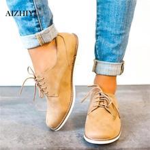 Women Flats Fashion Brogue Shoes Pure Casual Women Platform Oxfords Cut-Outs Flats Suede Lace Up Ladies British Brogue Shoes