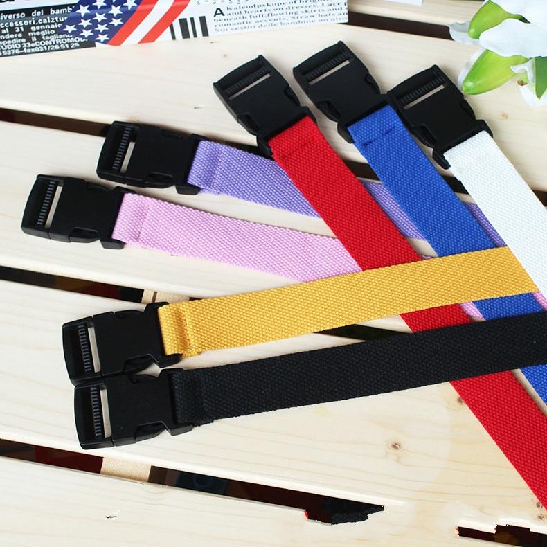 120cm Adjustable All-Match   Belt   Girls Boys Unisex Korean Style Canvas   Belts   Harajuku Buckle Solid Color Long   Belts