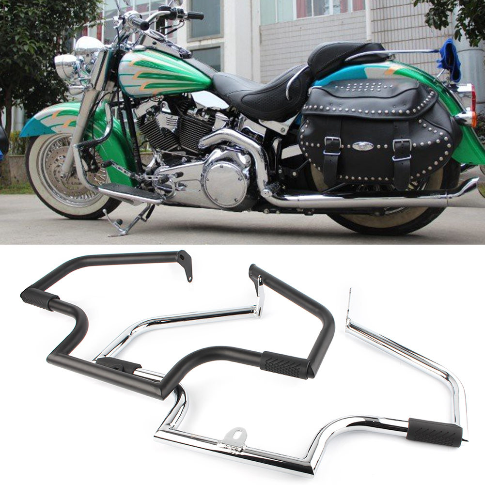 Motorcycle Highway Crash Bar Engine Guard Protector for 2000 2017 Harley Davidson FLSTC Softail Heritage Classic