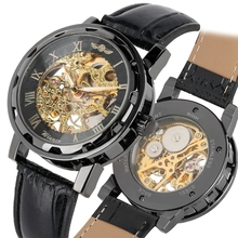 цена на WINNER Transparent Display Hands Gear Movement Watch Men Clock Male Retro Royal Design Men Mechanical Skeleton Sport Wrist Watch