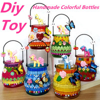 1PCS DIY 3D Vase Model Puzzle Game For Children Child Mosaics Sticky Crystal Art Craft Toy Kid Early Learning Handmade Toys