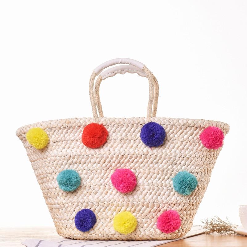 Shopper Feminina In Fatti Borsa 1 Borse Tote 2 Rattan Bolsa Spalla Da Paglia Di Spiaggia Donne Estate Delle Carchi style A Mano 2019 Style qY5CazxnwH