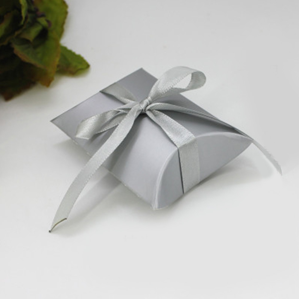 50pcs Craft Paper Bags Pillow Box Gift Cake Bread Candy Storage Box Wedding Part
