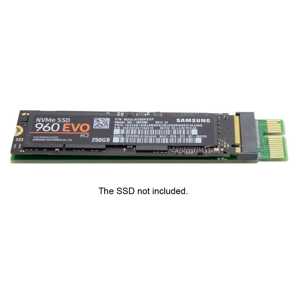 CYSM NGFF M-key M Key M.2 NVME AHCI SSD To PCIe PCI-E 3.0 1x X1 Vertical Adapter For XP941 SM951 PM951 960 EVO SSD