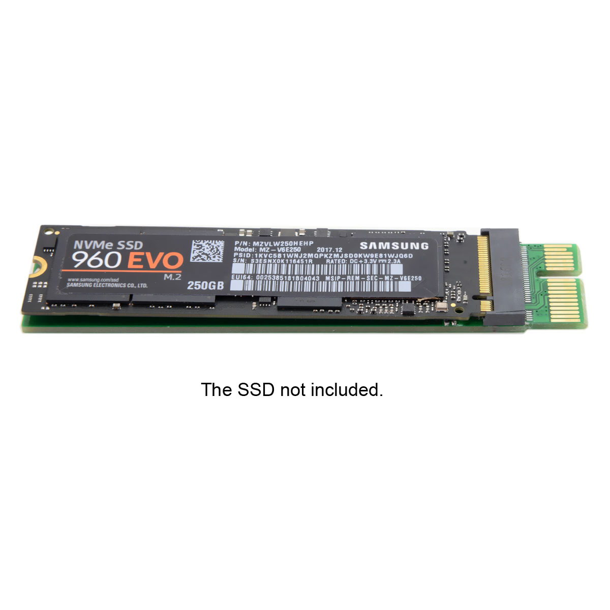 CYSM NGFF M-key M key <font><b>M.2</b></font> NVME AHCI SSD to <font><b>PCIe</b></font> PCI-E 3.0 1x <font><b>x1</b></font> Vertical Adapter for XP941 SM951 PM951 960 EVO SSD image