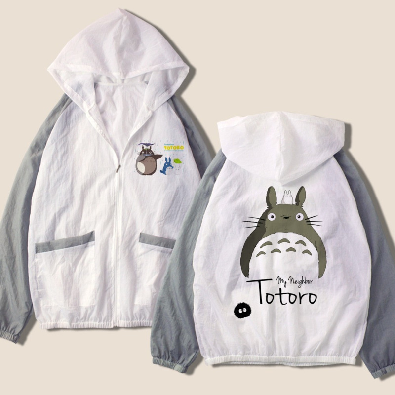 Women   Basic     Jacket   Totoro Dragon Ball Hooded Thin Outwear High Quality Windbreaker Female Summer Seaside Beach Sunscreen   Jacket