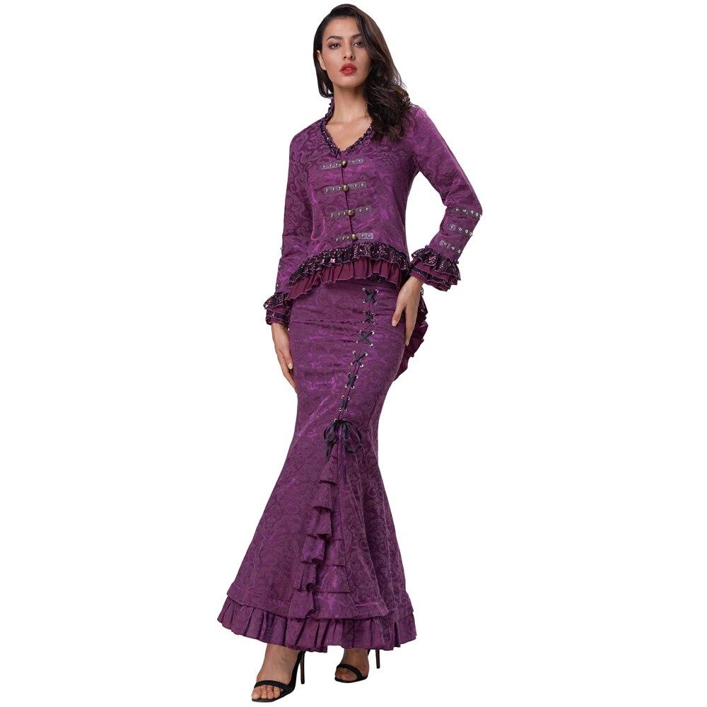 Women's Coat Retro Victorian Corset Style Lace Embellished Jacquard Coat Fashion Luxurious Personality Living Women Coat Jacket