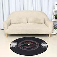 Музыкальный ковер 4 размера ковер для гостиной спальни детской комнаты 3D виниловая запись Печатный круглый напольный коврик стул кухонное ...