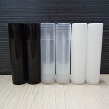 Plastic Refillable Bottles Empty Lipstick Lip Balm Container Cosmetic Bottle Tube 5g with 3 Colors