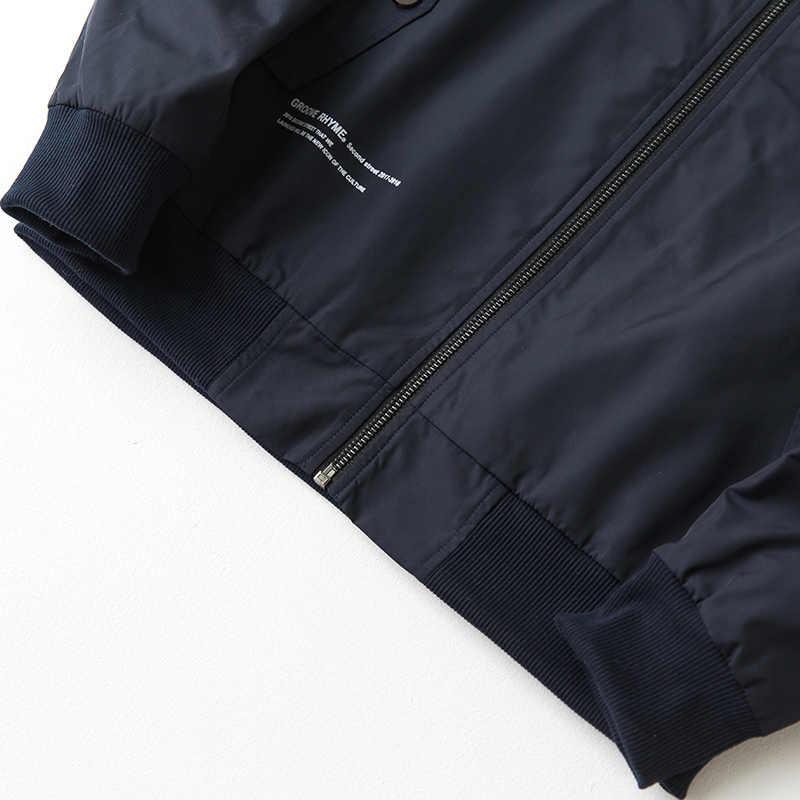 Осенняя мужская куртка на пуговицах с карманом на открытом воздухе пальто с буквами синего цвета одежда для мужчин повседневная приталенная куртка пилот Мужская одежда 334