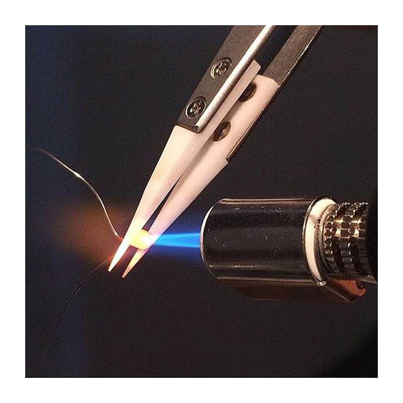 Pinzas cerámicas de precisión pinzas resistentes a altas temperaturas para bobinas de pellizco (blanco y negro)