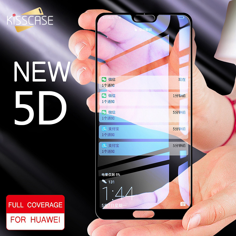 KISSCASE Tempered <font><b>Glasses</b></font> For <font><b>Huawei</b></font> P10 P20 Lite Pro <font><b>5D</b></font> Screen Smart Screen Protector For Mate10 <font><b>Honor</b></font> 10 <font><b>9</b></font> Lite Tempered <font><b>Glass</b></font> image
