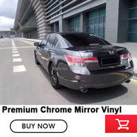 black Chrome Mirror Wrapping Film  low initial tack adhesive  Multiple colors with air release channels chrome wrapping film