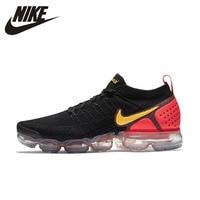 Nike Vapormax Flyknit 2 оригинальные мужские кроссовки для бега Удобная подушка из вентилируемой ткани уличная спортивная обувь кроссовки #942842