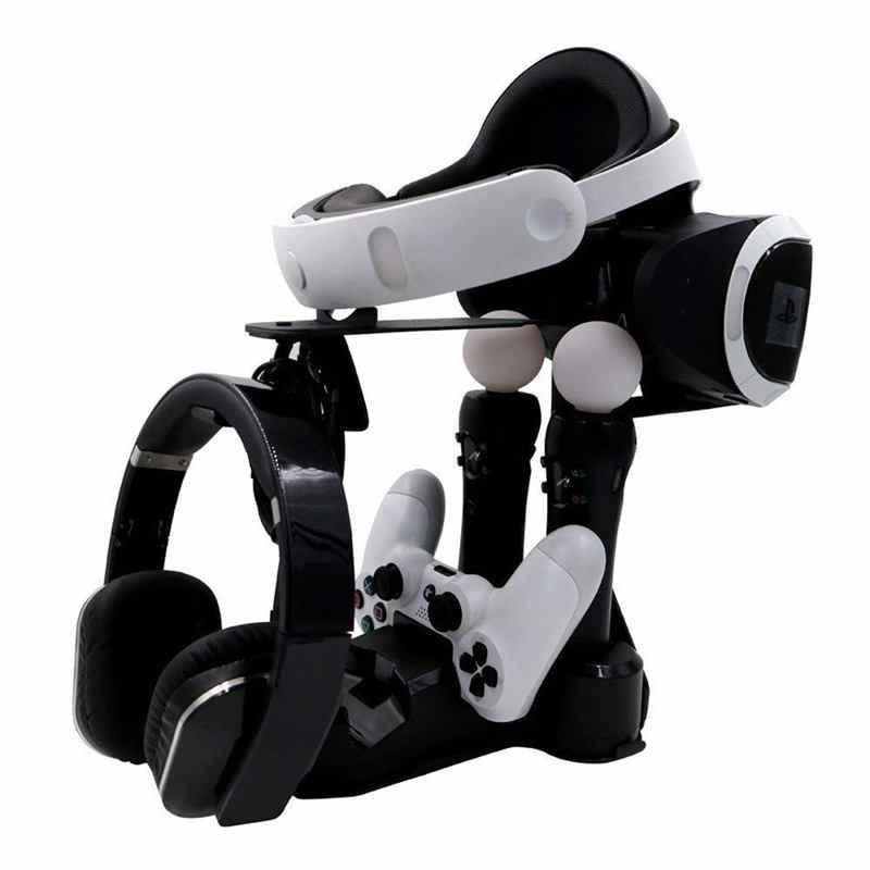JYS для PS4 вертикальная подставка, PS4 контроллер PS MOVE Зарядное устройство Дисплей держатель для PS4 VR PS4 про тонкий PSVR наушников витрина пространство