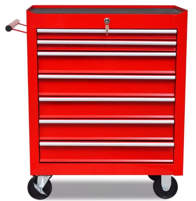 VidaXL 7 ярусов полка Тяжелая мастерская гараж DIY инструмент для хранения тележки колеса тележки лоток емкость для хранения тяжелого оборудования - 3