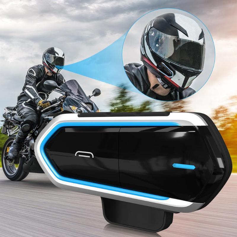 Bluetooth Headsets Motorcycle Helmet Wireless Riding Handsfree FM Radio Stereo MP3 Motobike Earphone Easy Operation Long Stand
