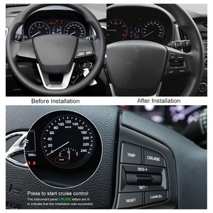 Image 3 - ESPEEDER لشركة هيونداي ix25 (creta) 1.6 ل رحلة كروز إلغاء التبديل عجلة القيادة زر الجانب الأيمن التدفئة/كابل قياسي