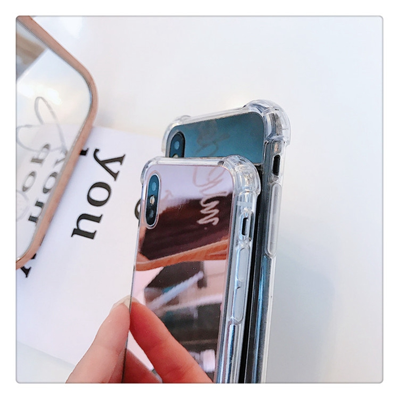 LJim Mirror TPU Case For iphone 11 Pro XS MAX XR X 10 8 plus Shockproof Fundas Cover For iphone 7 8 6s 6 s plus Phone Cases