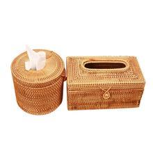 Бумажная стойка из ротанга плетеная коробка для салфеток элегантное автомобильное уникальное украшение для дома ручной работы салфетки для настольного компьютера контейнер для салфеток чехол для хранения