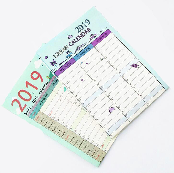 2019 Cartoon 365 Tage Wand Kalender Papier Jährlich Kalender Planer Tag Zeitplan Agenda Neue Jahr Planer Geschenk 7 Arten Kalender