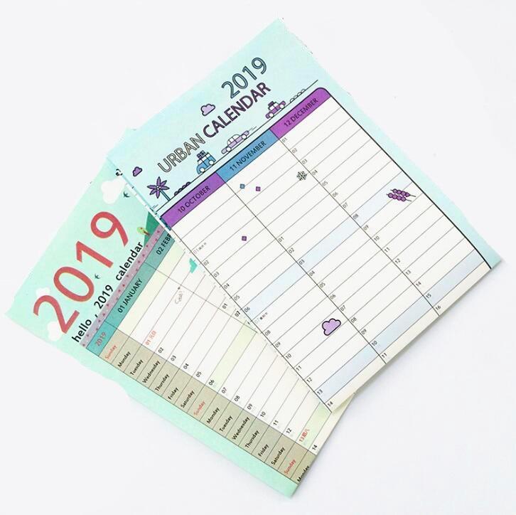 Kalender, Planer Und Karten Neue Jahr Plan Zeitplan 43*58 Cm Ohne RüCkgabe 2019 365 Tage Papier Kalender Täglichen Planer Kawaii Schreibwaren Schule Bürobedarf Agenda