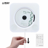 LEORY Wall Mount CD Player bluetooth Home Audio Boombox with Remote Control FM Radio Built in HiFi Speakers USB MP3 Portable