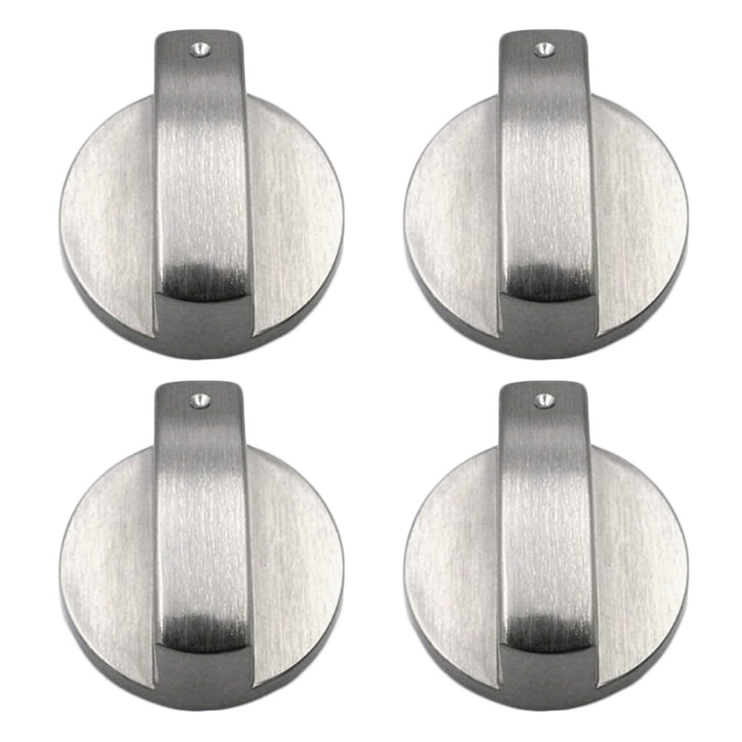 SIX UNIVERSAL for AEG Cooker Oven Hob SILVER Control Knobs with Thirty Adapters