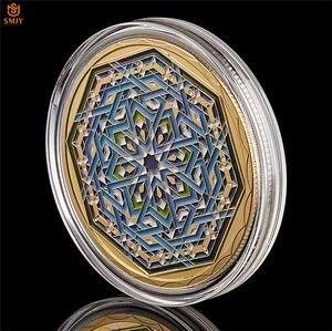 Image 5 - Ramadan kareem octogonal árabe saudita islâmico ouro chapeado réplica colecionável moeda e presente de férias