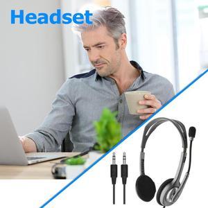 Image 4 - Logitech H110/H111 zestaw słuchawkowy Stereo z mikrofonem 3.5mm słuchawki przewodowe