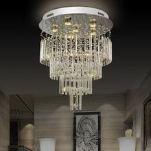 Modern round K9 luxury Crystal ceiling lamp  For Living Room home modern Lighting Fixtures led crystal chandelier  AC110-220V все цены