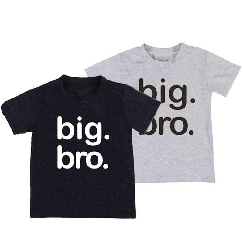 Tees Toddler Big Bro T-Shirt Tops Short-Sleeve Baby Boys Kids Casual Cotton Children