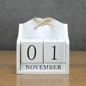 Image 3 - 2019 креативный Настольный календарь с вечным календарем «сделай сам», календарь с деревом, модное украшение для дома и офиса, подарок белый