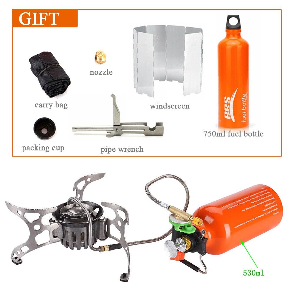 Portable Multi carburant camping poêle Camping en plein air gaz alcool cuisinière à gaz brûleur cuisinière pour randonnée pique-nique équipement poêle