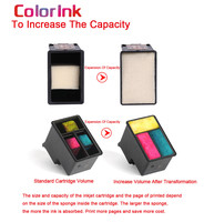 hp officejet ColoInk 2Pack For HP 901XL 901 Ink Cartridge Remanufactured  for HP Officejet 4500 J4500 J4540 J4550 J4580 J4640 J4680c printers (4)
