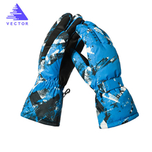 цена на VECTOR Waterproof Ski Gloves Men Women Warm Skiing Snowboard Gloves Snowmobile Motorcycle Riding Winter Outdoor Snow Gloves