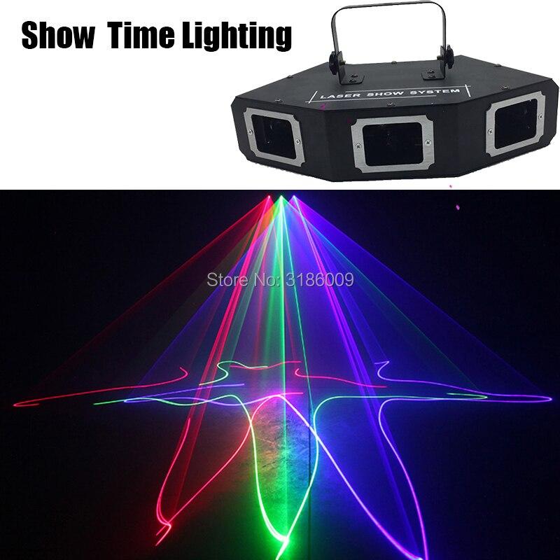 Лидер продаж, 3 линзы, красный, зеленый, синий, RGB сканер, лазерный светильник, секторный и барный лазер, DJ, вечерние, для шоу, клуба, отдыха, дом