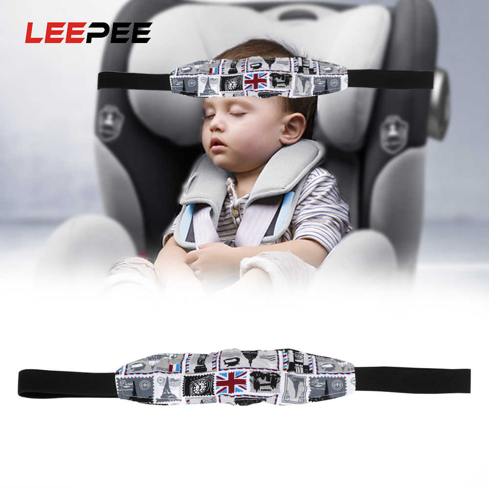 LEEPEE 1 piece Baby Pram Safety Seat Holder Belt Kids Sleep Head Support Holder Child Car Safety Seat Head Fixing Auxiliary