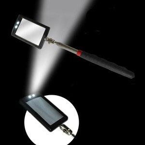 Image 4 - LED Illuminato Specchio Ispezione Del Veicolo Flessibile Telescopica Regolabile Specchi Girevole Da 360 Gradi di Estendere Strumenti di Auto A Mano