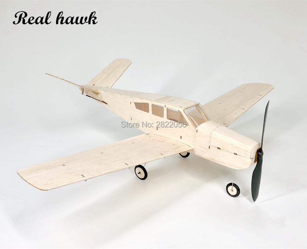 Mini RC Plane Laser Cut Balsa Wood Airplane Kit Mentor Beech V35 Model Building Kit