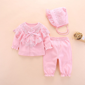 Image 2 - new born baby clothes set girl fall long sleeved cotton 0 3 months little girls clothing sets toddler newborn baby girl clothes