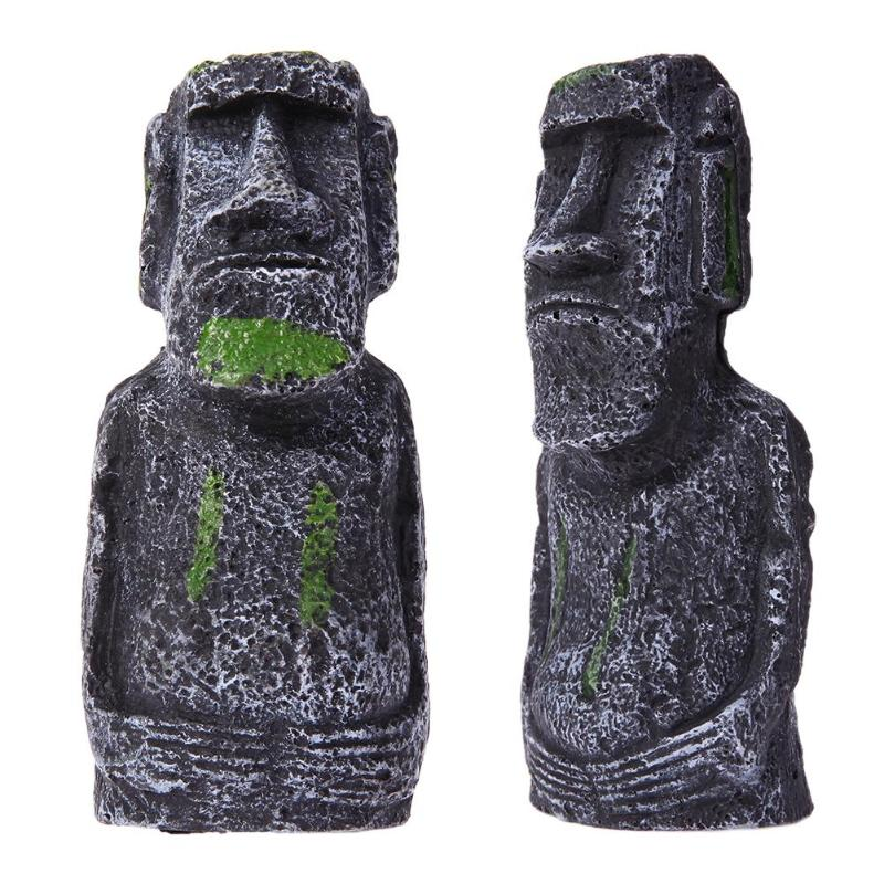 Astounding Us 5 51 15 Off Fish Tank Landscaping Artificial Easter Island Statue Portraits Decoration In Decorations From Home Garden On Aliexpress Com Download Free Architecture Designs Scobabritishbridgeorg