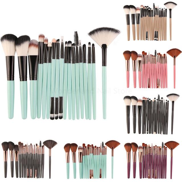 MAANGE 18/15/7Pcs Makeup Brushes Set Eyeshadow Brush Eyebrow Eyeliner Powder Blush Foundation Brush Pincel Maquiagem Beauty Tool 5
