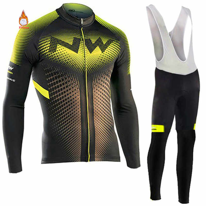 Northwave Warm 2019 NW Winter Thermal Fleece Cycling Clothes NW Men s Jersey  Suit Outdoor Riding Bike 6e3878ede