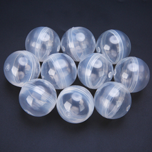 10Pcs Transparent Plastic Empty Round Toy Capsules 1.2inch 32mm Diameter For Kids Gift