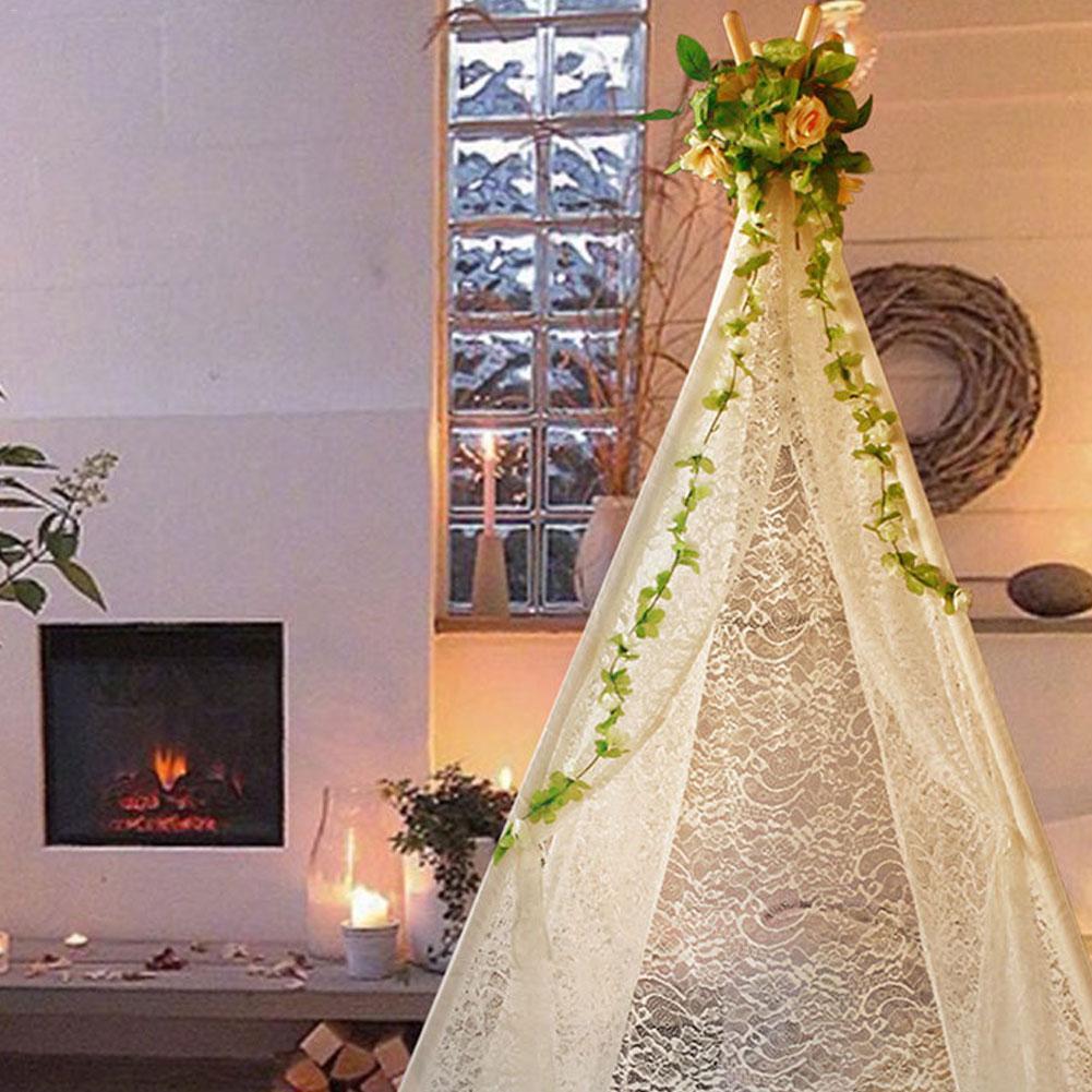 Tentes pour enfants Portable pliant luxe dentelle princesse château tente enfants maison de jeu indien Triangle tentes enfants cadeau - 2