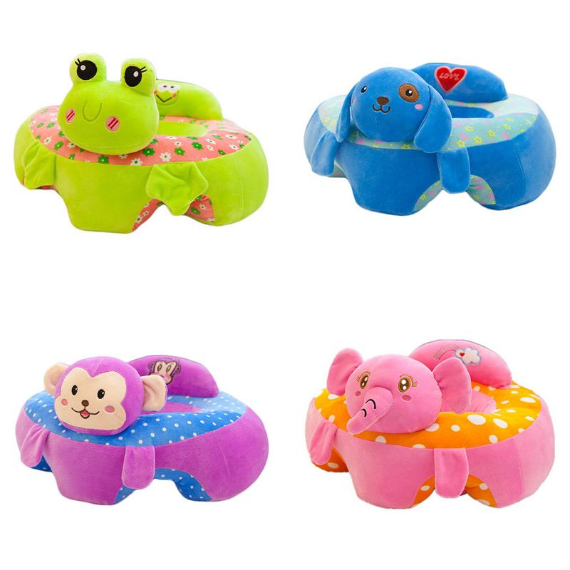 Baby Support Seat Plush Soft Baby Sofa Infant Learning To Sit Chair Keep Sitting Posture Plush Toy Baby Cartoon Sofa