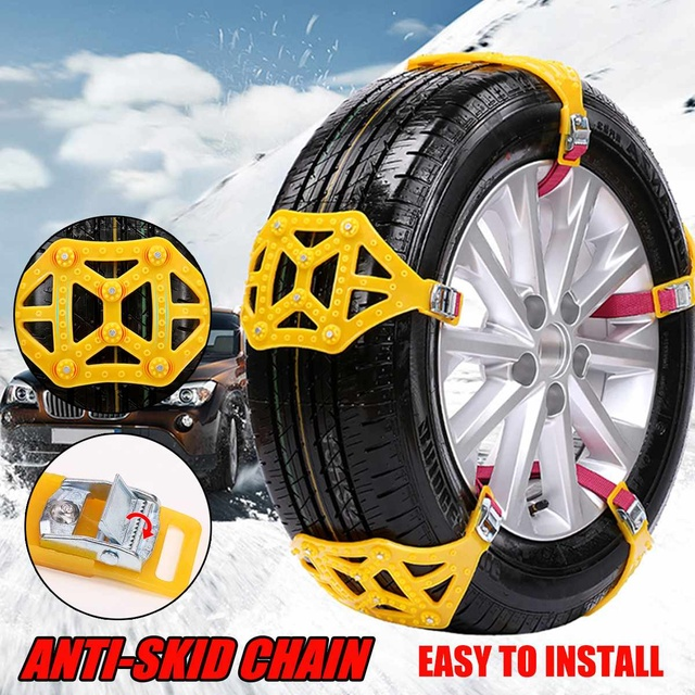 Audew Anti-skip Snow Chains Winter Mud Sand Roadway Car Wheel Security Belt Clip-on